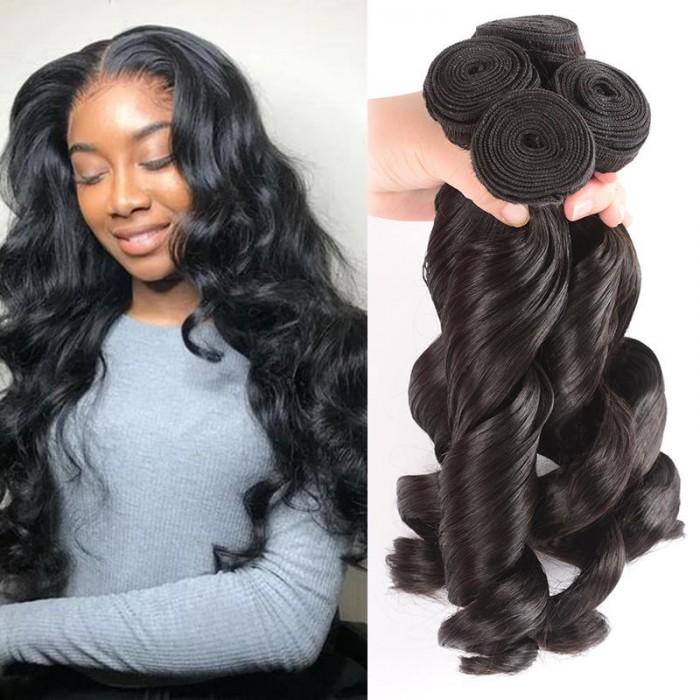 UNice Hair Kysiss Series Peruvian Loose Wave Virgin Hair 4 Bundles Virgin+ Products