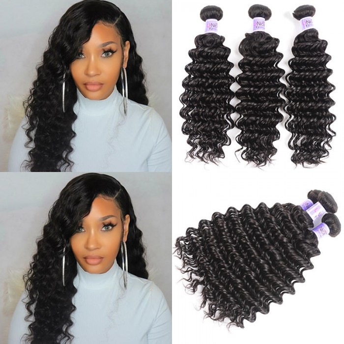UNice Hair Kysiss Series 3 Bundles Indian Deep Wave Human Hair