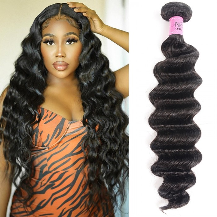 UNice Hair 1 Bundle Virgin Human Hair Loose Deep Wave