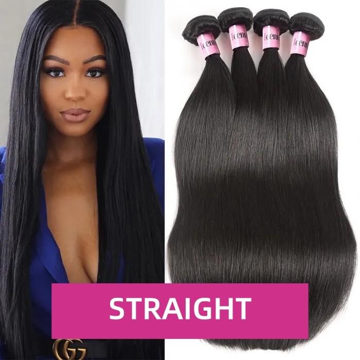 Weekend Flash Deal 24 24 24 24inch 4 Bundles Straight 100% Unprocessed Virgin Human Hair