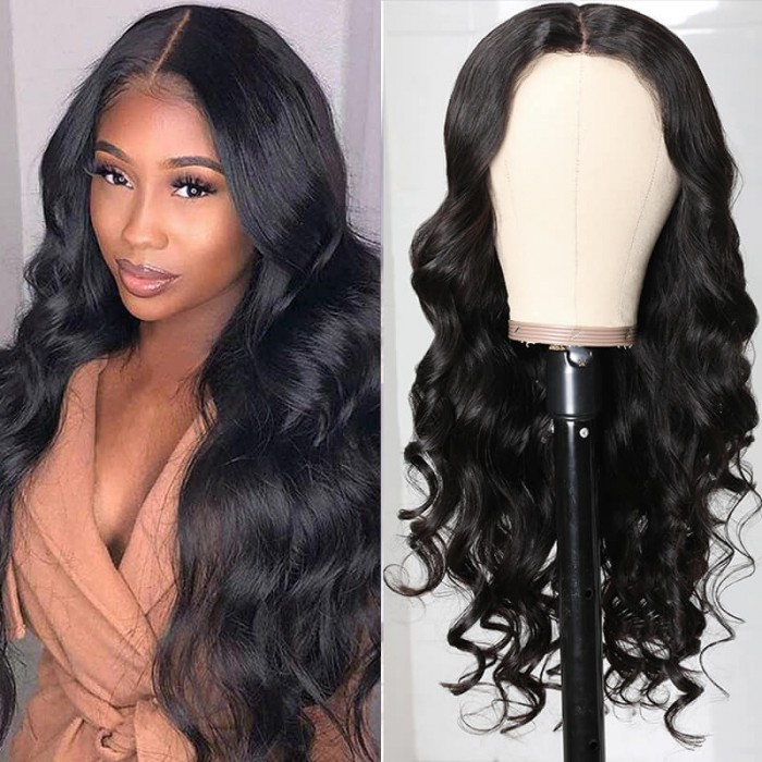 Unice Pre Sale Fake Scalp Lace Wig Body Wave Human Virgin Human Hair Wig Middle Part Wig for African American Women Natural Balck Virgin Hair Wig Bettyou Series