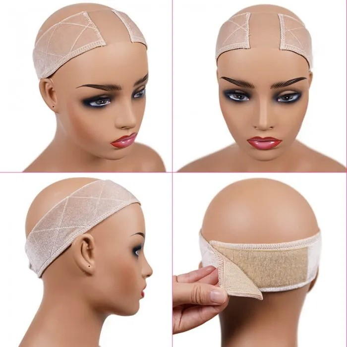 UNice Part Lace Wig Grip Bands Flexible Wig Comfort Beige Color Bands Velvet Non Slip Headband to Keep Wig Secured and Prevent Headaches