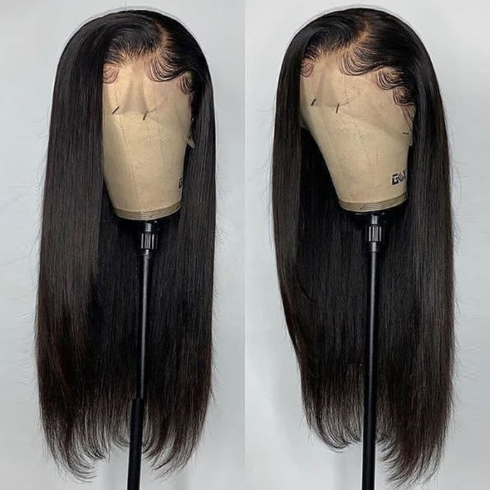 UNice 13x4 Straight Human Hair Lace Front Wigs for Black Women 180% Density Glueless Lace Frontal Wig Pre Plucked with Baby Hair Bettyou Series