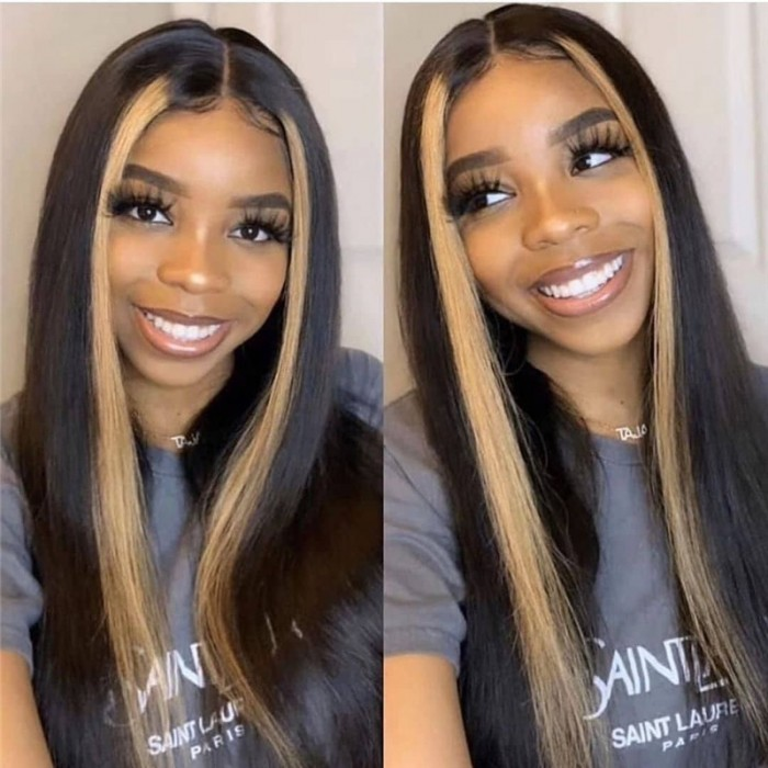 UNice Hair 13x4 Lace Front Human Virgin Hair Wigs 8-24 Inch Straight Highlight Hair Straight Hair Wig Bettyou Series