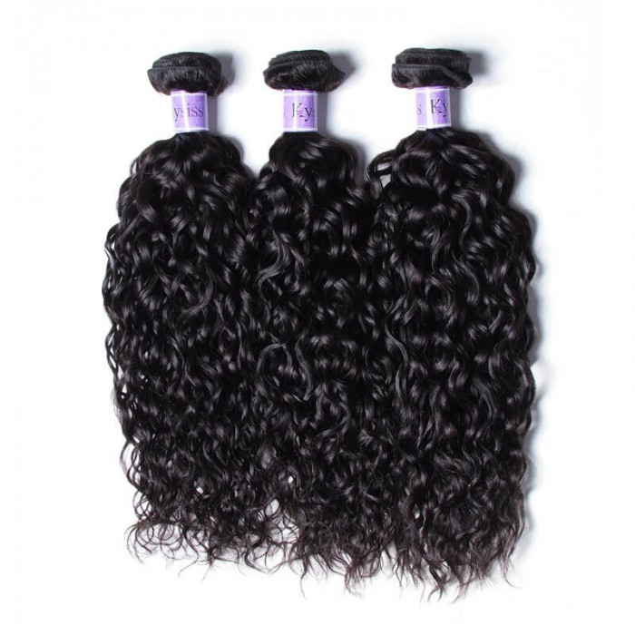 UNice-Kysiss Indian Water Wave 100% Virgian Human Hair 3 Bundles