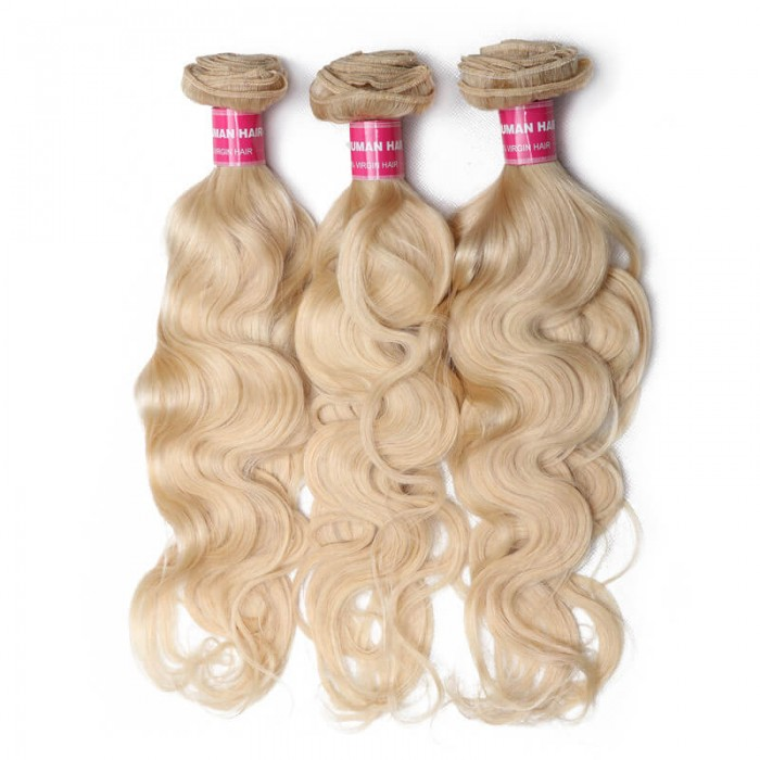 Unice Hair 3PCS 613 Blonde Virgin Human Hair Bundles Body Wave Hair