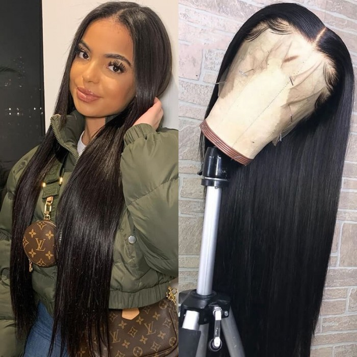 France Uniquement UNice Hair New Design Pre Plucked Natural Hairline 100% Straight Human Virgin Hair Lace Front Wigs Bettyou Series
