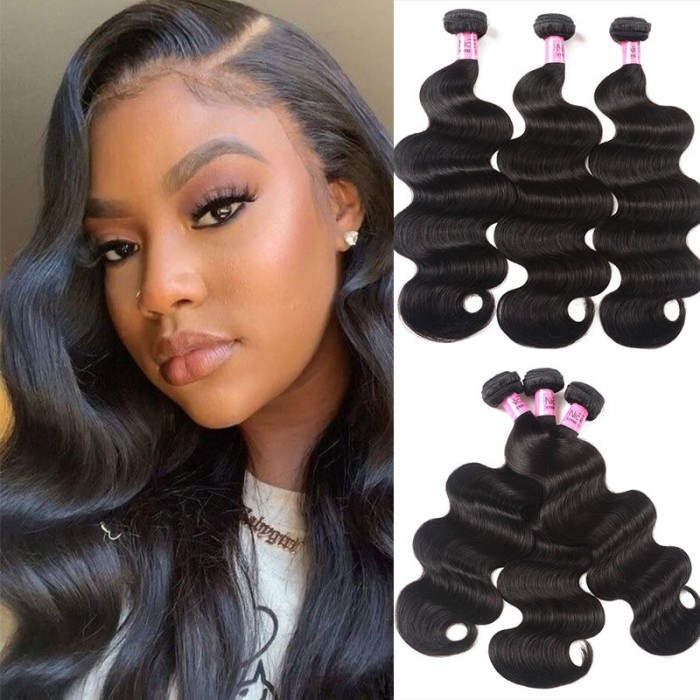 UNice Hair Icenu Series Malaysian Body Wave Virgin Hair 3 Bundles