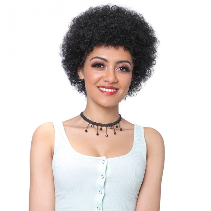 UNice Hair Bettyou Serices Kinky Curly Short Human Hair Capless Cap Wigs