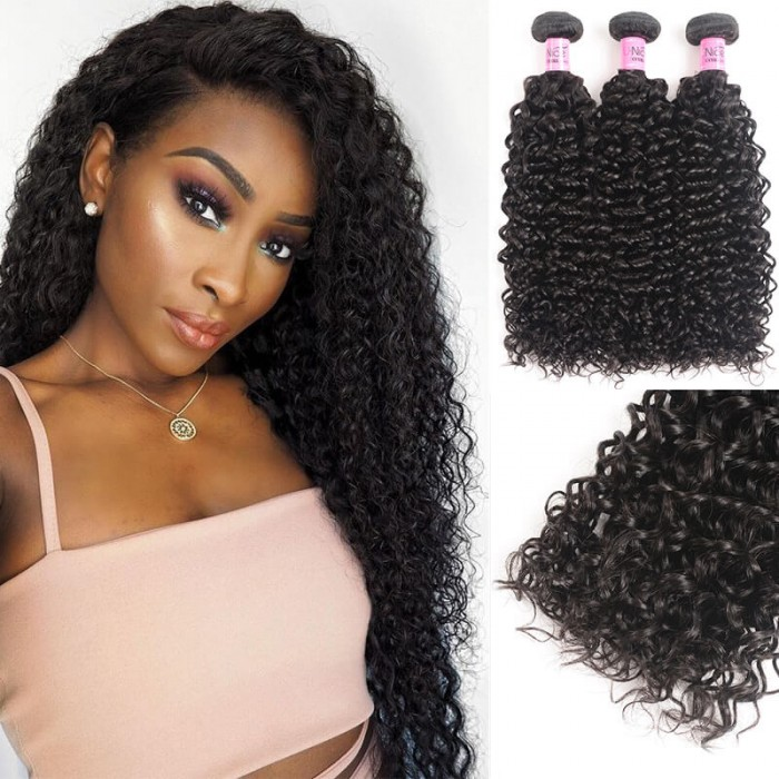UNice Hair Icenu Series 3pcs/pack Indian Jerry Curly Human Hair Extensions