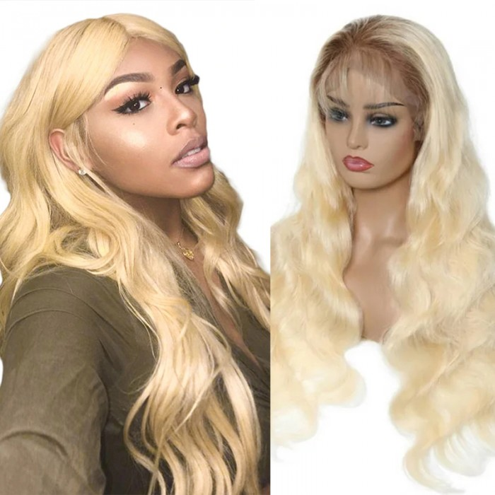 UNice Hair T4 613 Lace Wig For African American Women 13x4 Lace Front Human Hair Wigs 150 Density Body Wave Lace Front Wig