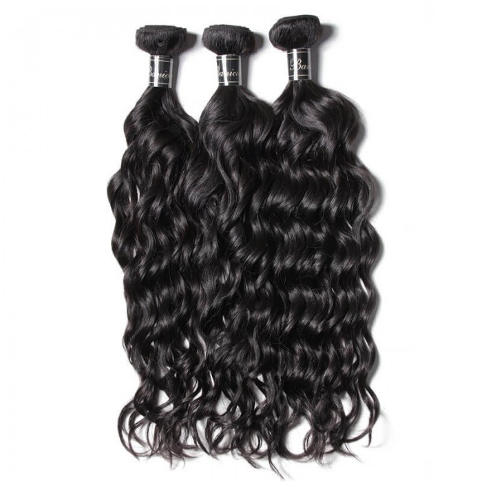UNice Hair 3 Bundles Natural Wave Hair Bundles Premium Virgin Human Hair Banicoo Series