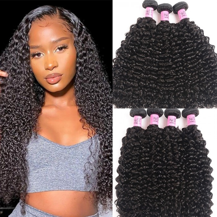 UNice Hair Icenu Series Virgin Human Hair 3pcs/pack Virgin Jerry Curly Wave Hair
