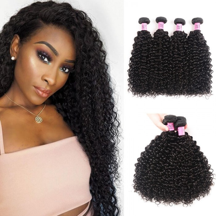 UNice Hair Icenu Series Peruvian Jerry Curly Virgin Hair Weaves 4pcs/pack