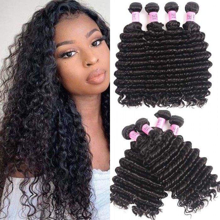UNice Hair Icenu Series 4Pcs/pack Malaysian Deep Wave Virgin Hair Weft