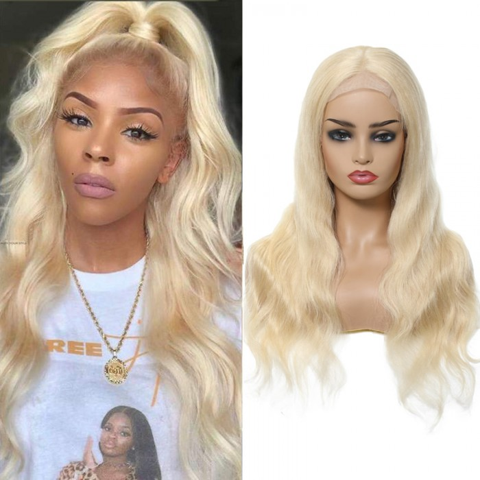 UNice Hair Bettyou Series Long Blonde Body Wave Human Hair Wigs 12-22 Inches Lace Front Wig For Women Online For Sale