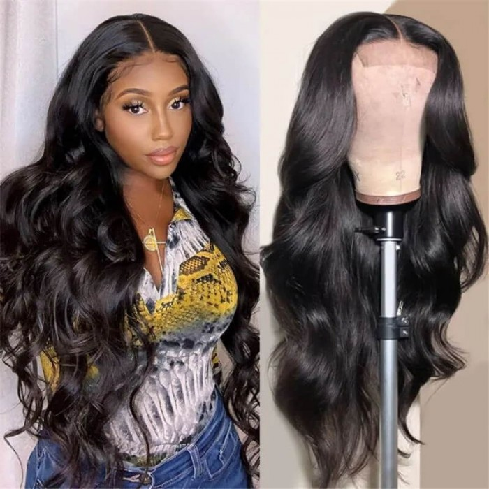 Real Invisible Skin Melt HD Lace Closure Wig Romantic Body Wave Preplucked