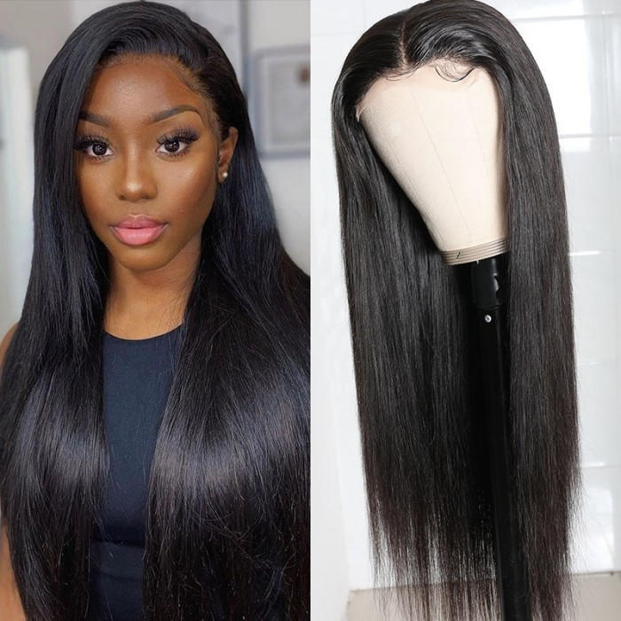 UNice Hair 5x5 HD Lace Closure Wigs Virgin Straight Wig Pre Plucked Natural Black Human Hair Wigs for Women Bettyou Series