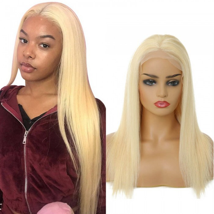 UNice Hair Bettyou Series 100% Virgin Human Hair Soft Long 613 Blonde Straight Lace Frontal Wig
