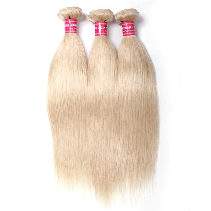 3PCS Straight Hair UNice Hair 613 Blonde Virgin Human Hair Extension Bundles