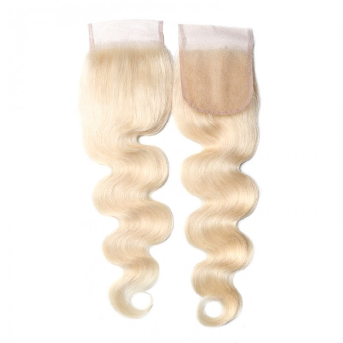 UNice Hair 613 Blonde Human Hair Body Wave Blonde Hair 4X4 Lace Closure