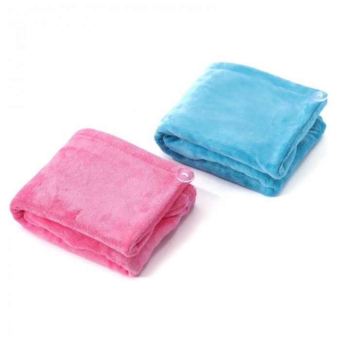 Unice Microfiber Hair Towel Wrap for Women Blue and Pink Color 1 Pack 2 Pcs Super Absorbent Quick Dry Hair Turban for Drying Long And Thick Hair