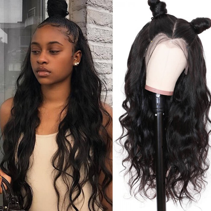 UNice Hair Human Hair Body Wave 360 Lace Frontal Wig Pre Plucked Natural Hairline Density 180% And 150% Bettyou Wig Series