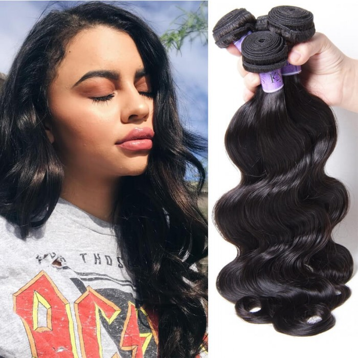 UNice Hair Kysiss Series Best Human Hair 4 Bundles Peruvian Body Wave Virgin Hair
