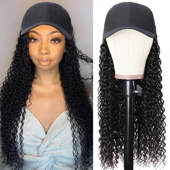 Baseball cap wig