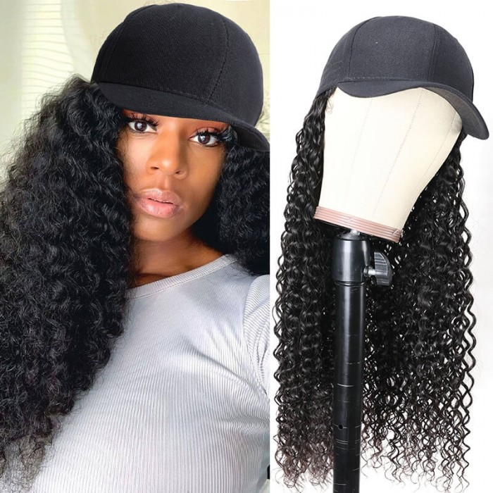 Long Curly Cap Wig Anti-UV Hairstyle For Summer