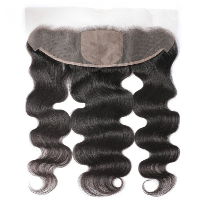 UNice Body Wave Pre-Made Fake Scalp Silk Base 13x4 Lace Frontal Natural Color