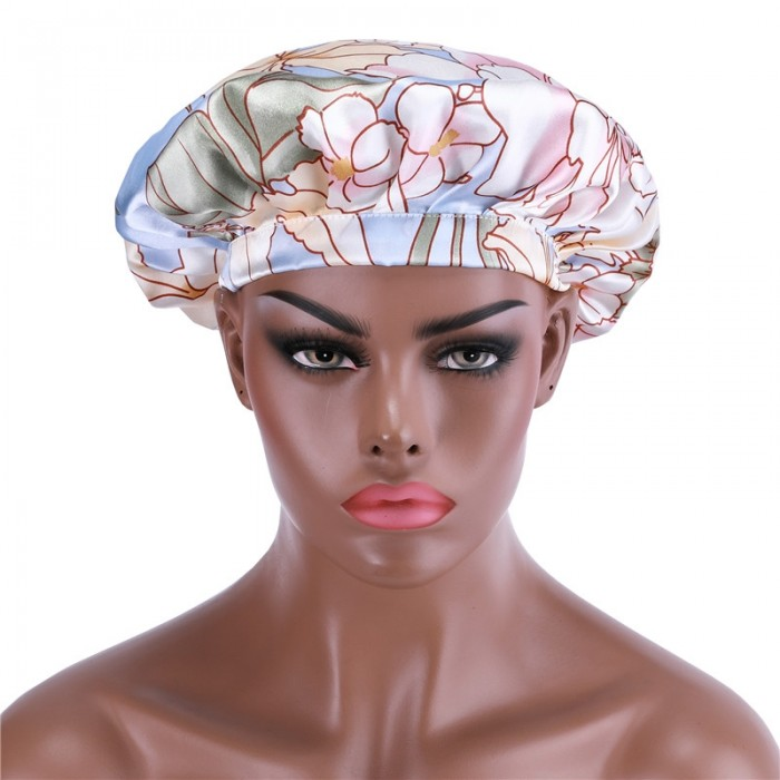 UNice Adjustable Satin County Color Night Cap Sleeping Hat For Making Wigs Nightcap For Women