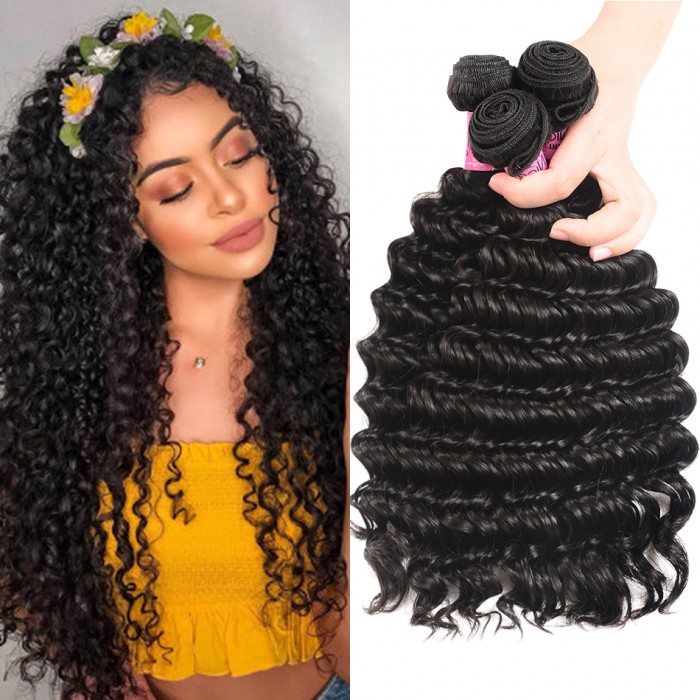 UNice Hair Kysiss Series 3pcs/pack Malaysian Deep Wave Hair Extension