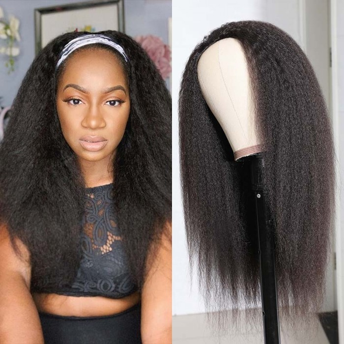 UNice Kinky Straight Human Hair Half Wigs Straight Half wig Clip in Human Hair Extension 150% Density Bettyou Series