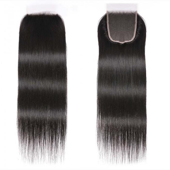 Unice Hair 5x5 HD Lace Closure Straight Hair Deep Parting Transparent Lace Closure Invisible Knots Natural Virgin hair