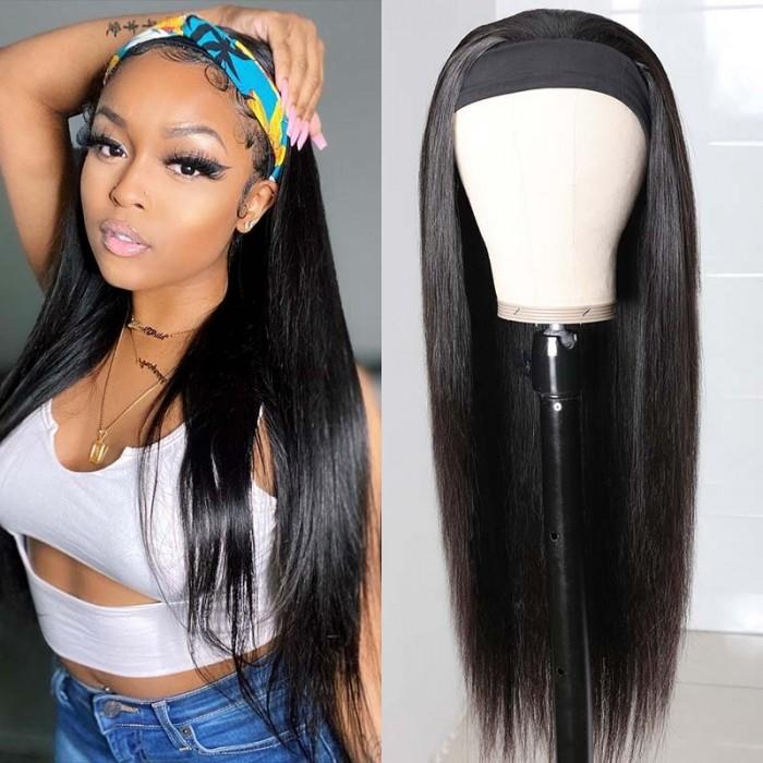 UNice Straight Human Hair Wig Glueless Wig Brazilian Virgin Hair Machine Made Headband Wig 150% Density Bettyou Series