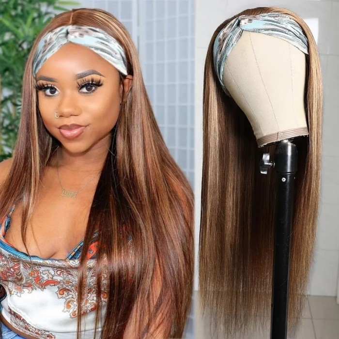 UNice Brand Day: Ombre TL412 Color Headband Human Hair Wigs Straight None Lace Front Wigs 150% Density Bettyou Series