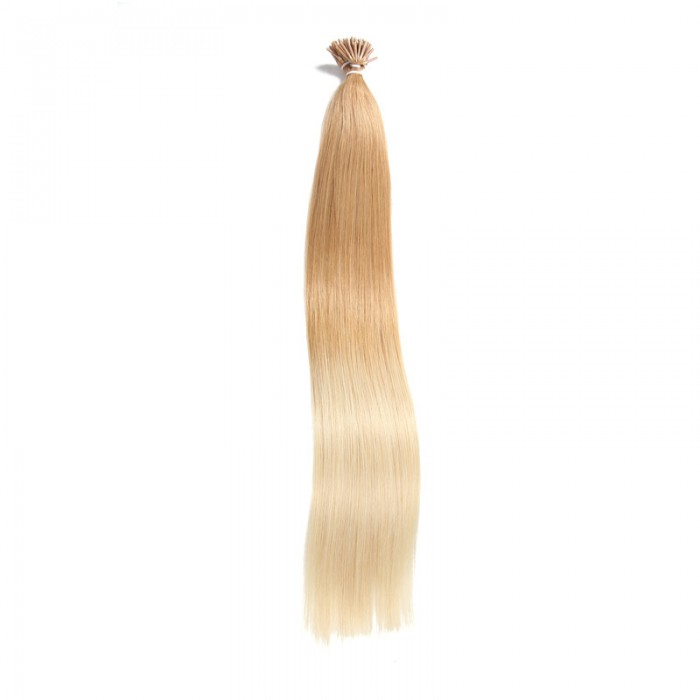 UNice 100 g Omber Keratin Stick I-tip Straight Virgin Human Hair Extensions