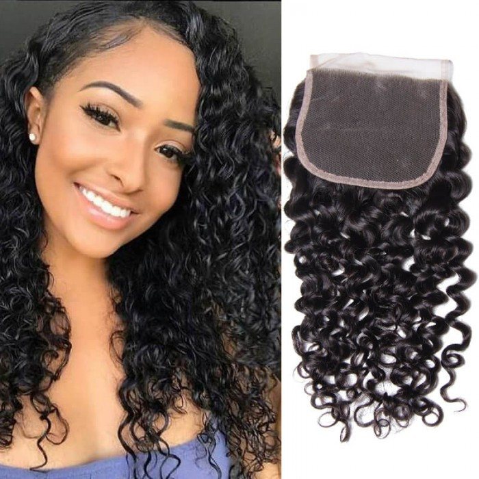 Peruvian Kinky Jerry Curly Hair Lace closure