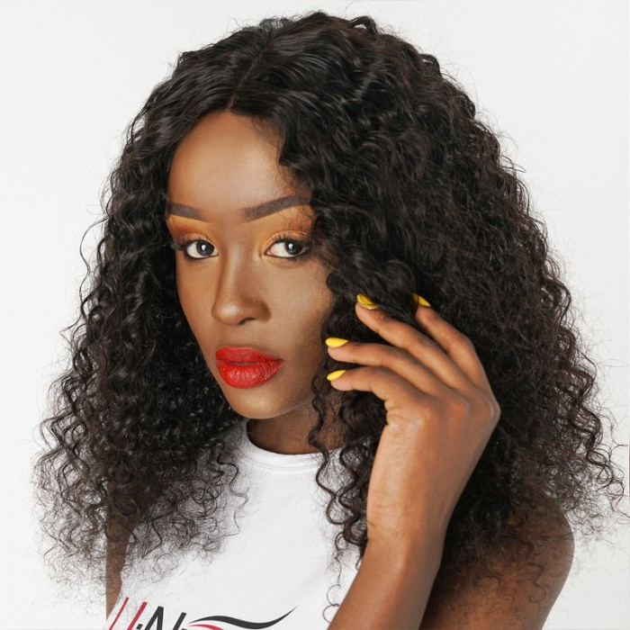 UNice Hair Icenu Series Peruvian Jerry Curly Virgin Hair Weaves 4pcs/pack