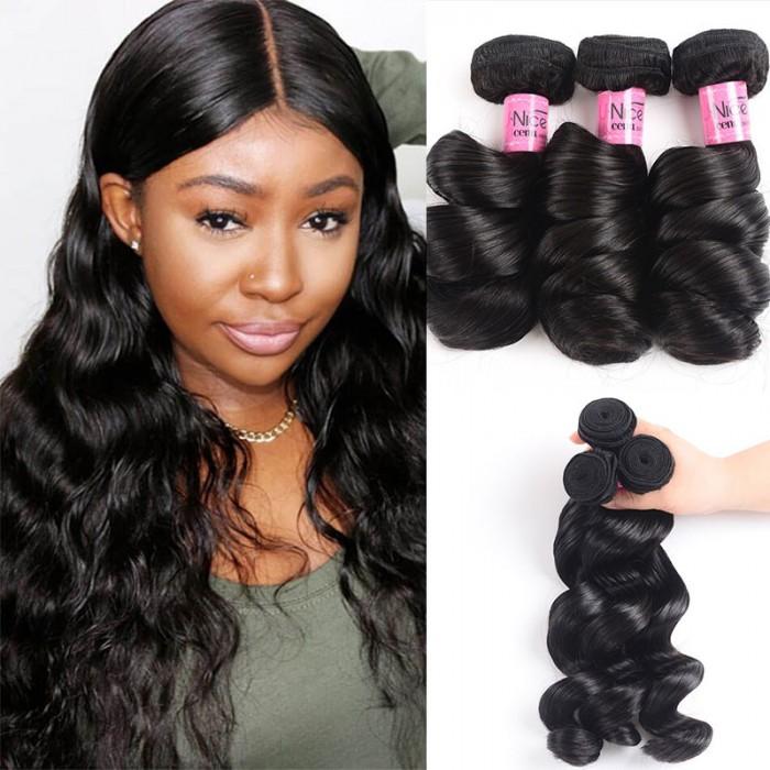 UNice Hair Icenu Series 3 Bundles Indian Loose Wave Human Hair Extensions