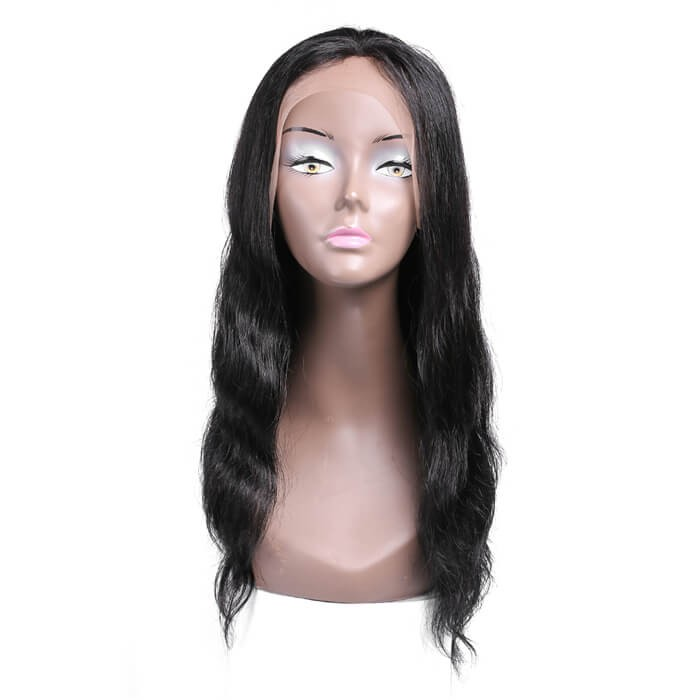 The product has been saved. UNice Human Hair Lace Frontal Wigs Long Body Wave Hair Wigs Black Color