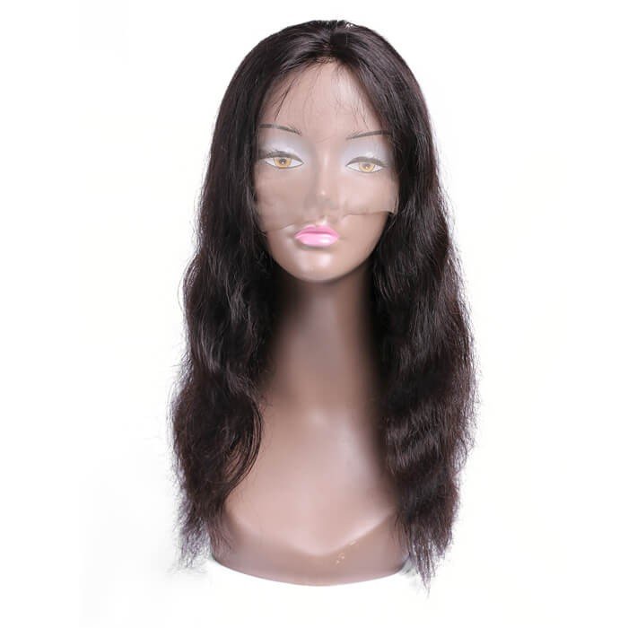 UNice Long Human Hair Wigs Natural Black Hair Body Wave Lace Front Wigs