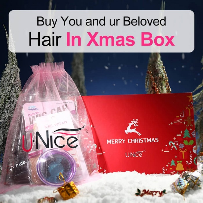 Merry Christmas Sweet Gift: UNice Box Free Gift Red Color New Year Best Wishes
