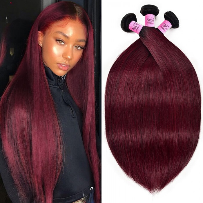 UNice Silky Straight Hair 3 Bundles Ombre Tb99J Human Hair Weave Icenu Series