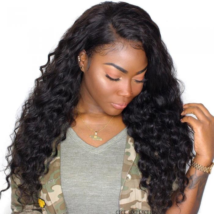 UNice New Loose Water Wave Hair Weave Virgin Human Hair 1 Bundle Unprocessed Human Hair Extensions Natural Black Color Icenu Series