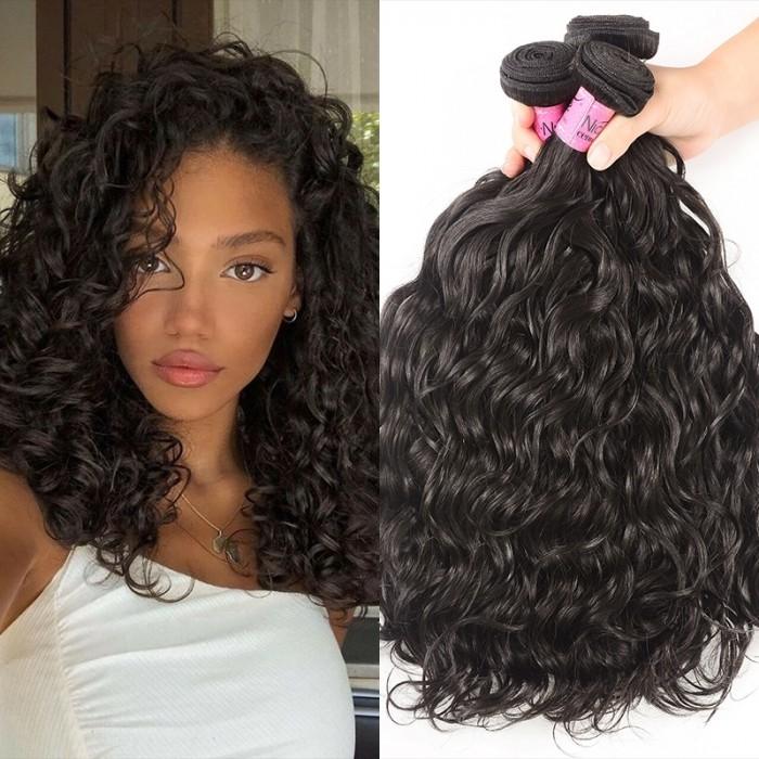 UNice Hair Icenu Series Virgin Natural Hair Weaving Human Hair 3 Bundles