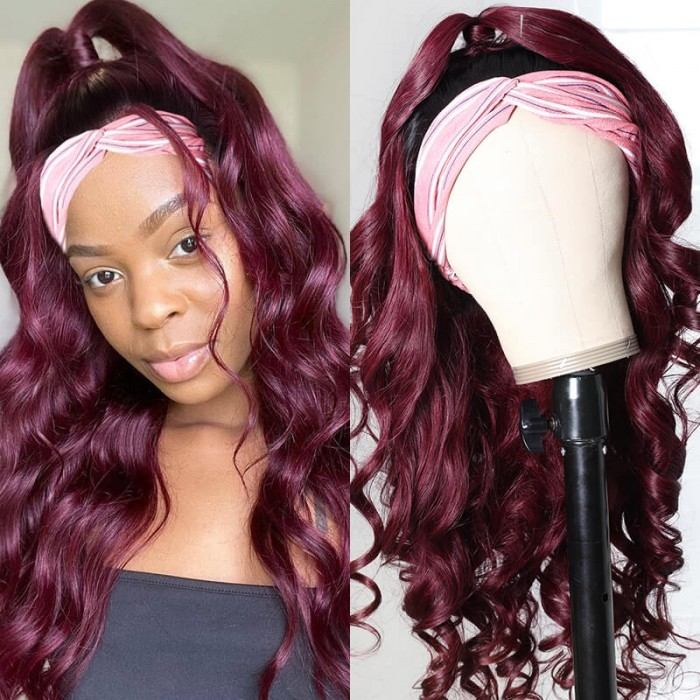 UNice Headband Wig Ombre 1B99J Body Wave Glueless Non Lace Front Wig for Women Full Machine Wear and Go Wig 150% Density Bettyou Series