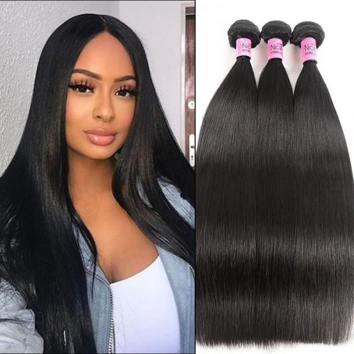 UNice Hair Icenu Series Hair Indian Straight Human Virgin Hair Weaving