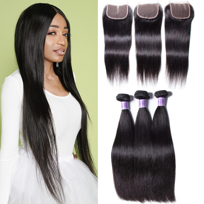 UNice Hair Kysiss Series Brazilian Straight Virgin Hair